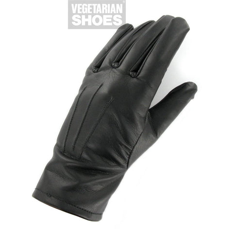Vegan gloves by Vegetarian Shoes - black (unisex)