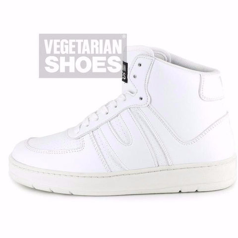 Veg Supreme hi top vegan sneakers by Vegetarian Shoes - white