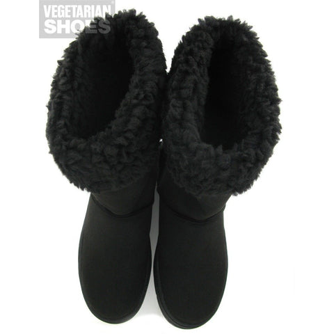 Highly Snug slipper boots by Vegetarian Shoes - black