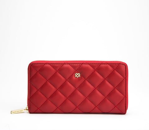 Uptown zipper vegan wallet by GUNAS - red