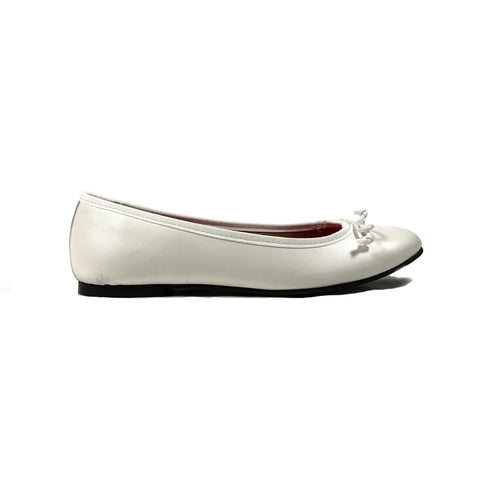 'Rita' Vegan ballet flats in white by Good Guys - Vegan Style