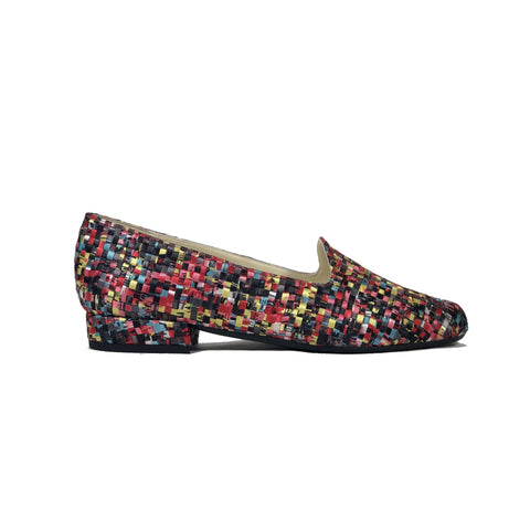 'Tracey' vegan-textile loafers by Zette Shoes - multicolour