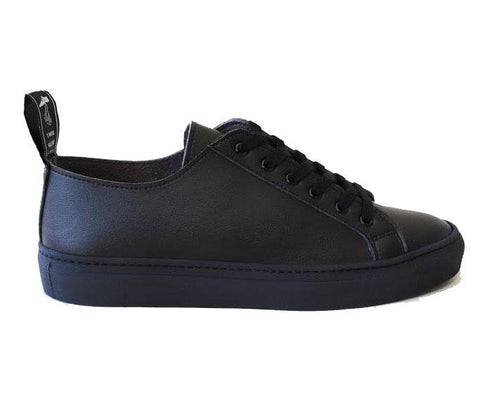 'Samo' Vegan-Leather Sneaker by Good Guys Don't Wear Leather - Black