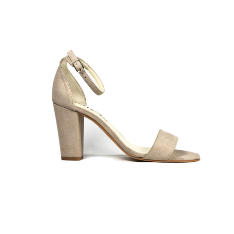 'Tahlia' vegan suede heel by Zette Shoes - sand