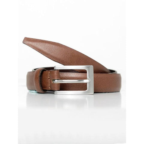 Will's London - Women's 1.5cm skinny belt in chestnut - Vegan Style