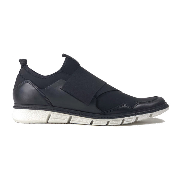 'Caspar' - men's vegan sneaker by Zette Shoes - black with white sole - Vegan Style