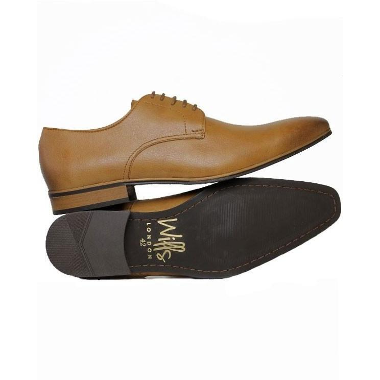 Will's London - Slim-Sole Smart Vegan Oxfords - tan