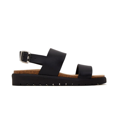 'Ashai' women's vegan footbed sandals by Matt and Nat - black - Vegan Style