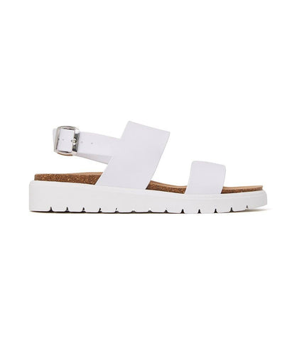 'Ashai' women's vegan footbed sandals by Matt and Nat - white - Vegan Style
