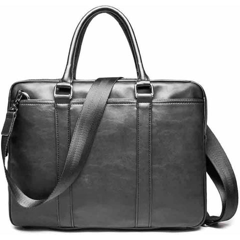 'Tagawa' vegan briefcase - black