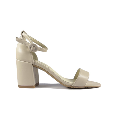 'Diosa' vegan leather heel by Zette Shoes - sand