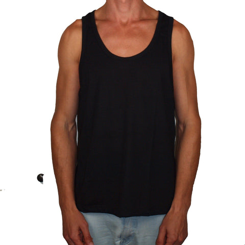 Vegan Style Men's Tank Top in black