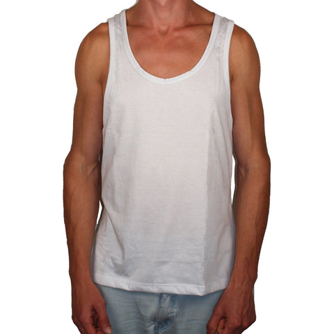 Vegan Style Men's Tank Top in white