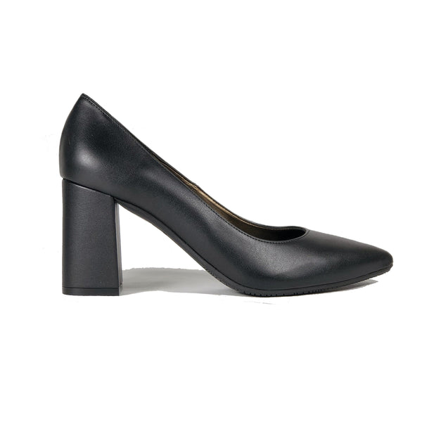 'Tanya 2' Black vegan leather high heel by Zette Shoes