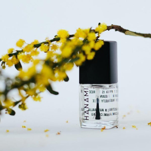 Top and Base Coat Nail Polish (15ml) by Hanami Cosmetics - Vegan Style