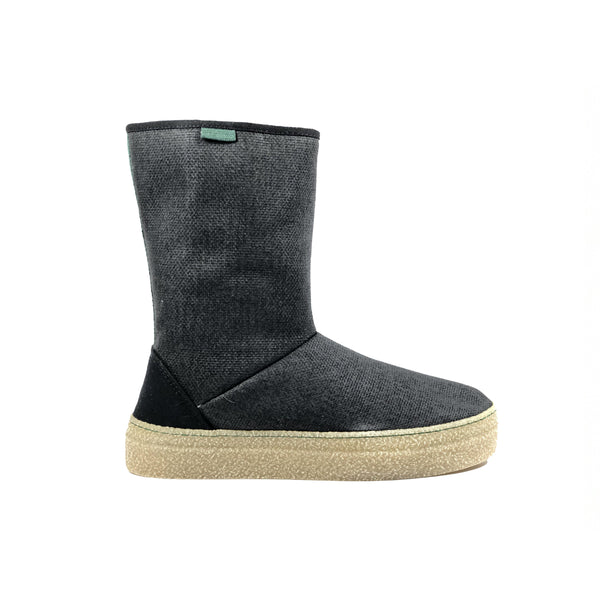 'Joyce' Vegan Slipper Boots by Vesica Piscis - Charcoal