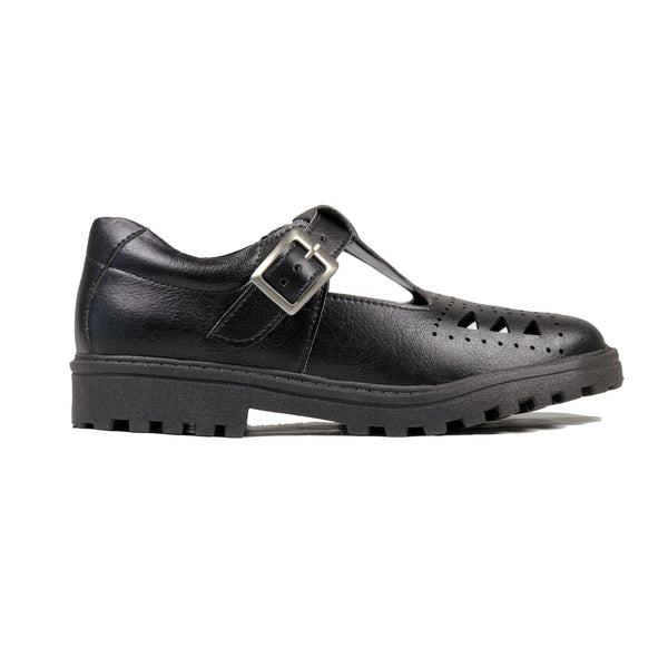 Classic T-bar vegan school shoe by Vegan Style
