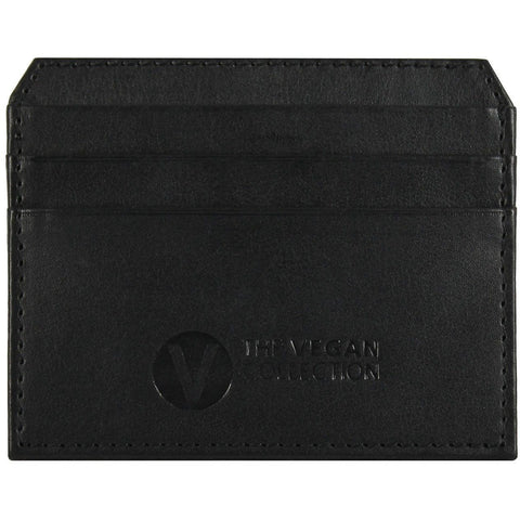 'Walker' Pocket Card Holder By The Vegan Collection - Black - Vegan Style