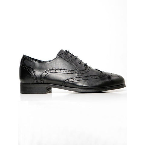 Will's London - Women's Brogue (Black) - Vegan Style