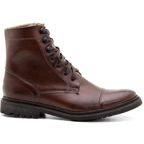 Ahimsa Women's lace up boots - cognac