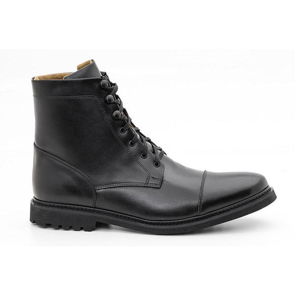 Work Boot - vegan men's lace-up boots by Ahimsa - black