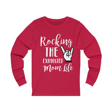 Load image into Gallery viewer, Exhausted Mom Long Sleeve Tee