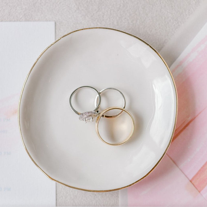 Ceramic Ring Dish with Rings