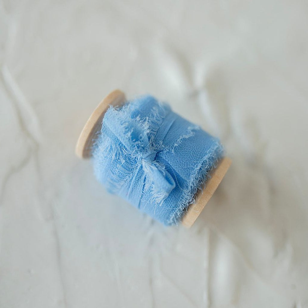 Cornflower Blue Silk Chiffon Styling Ribbon