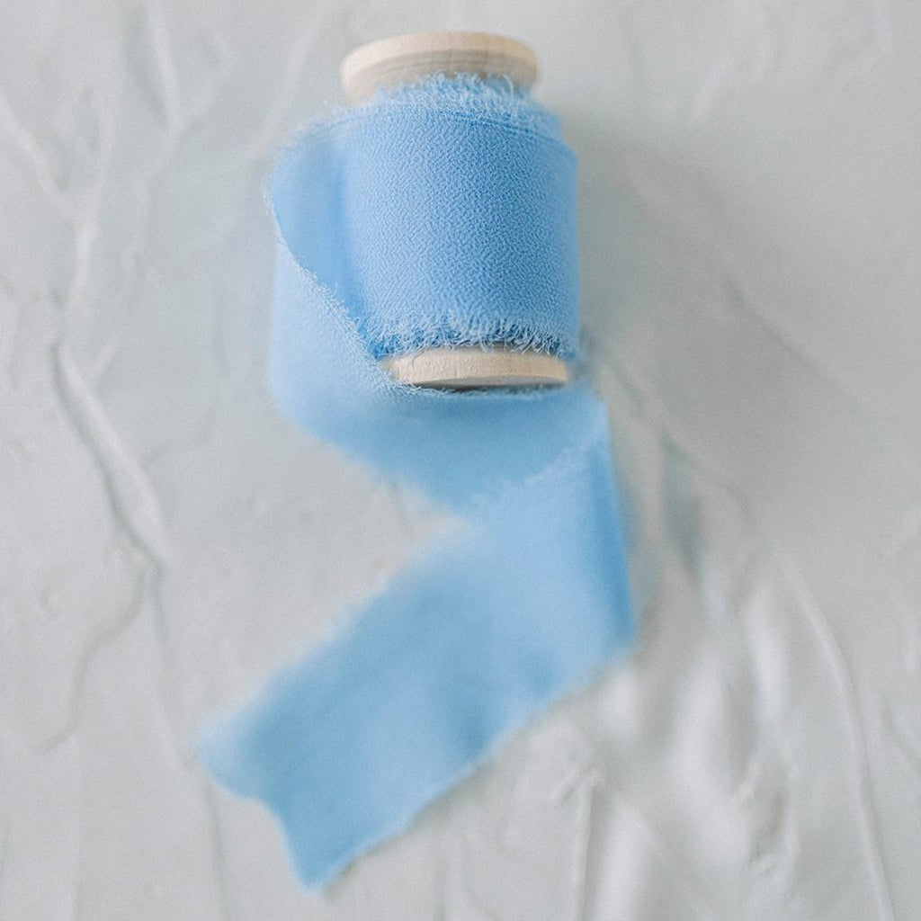 Cornflower Blue Silk Styling Ribbon