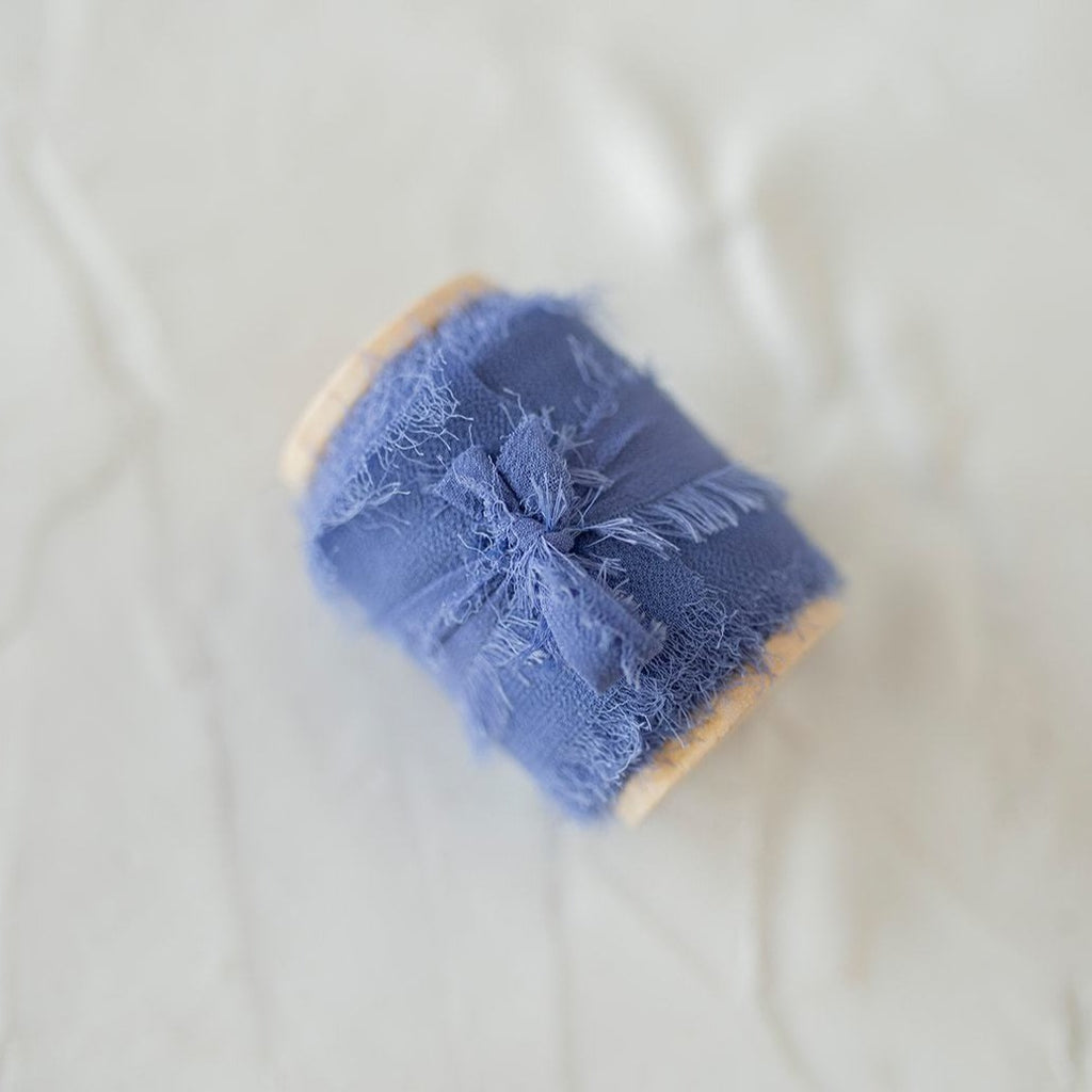 Dusty Blue Silk Chiffon Styling Ribbon