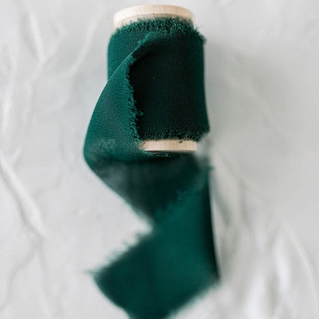 Emerald Green Silk Styling Ribbon