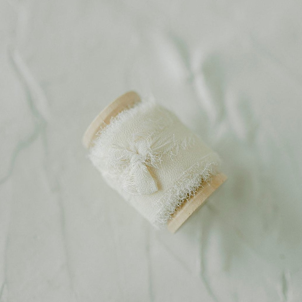 Ivory Silk Chiffon Styling Ribbon