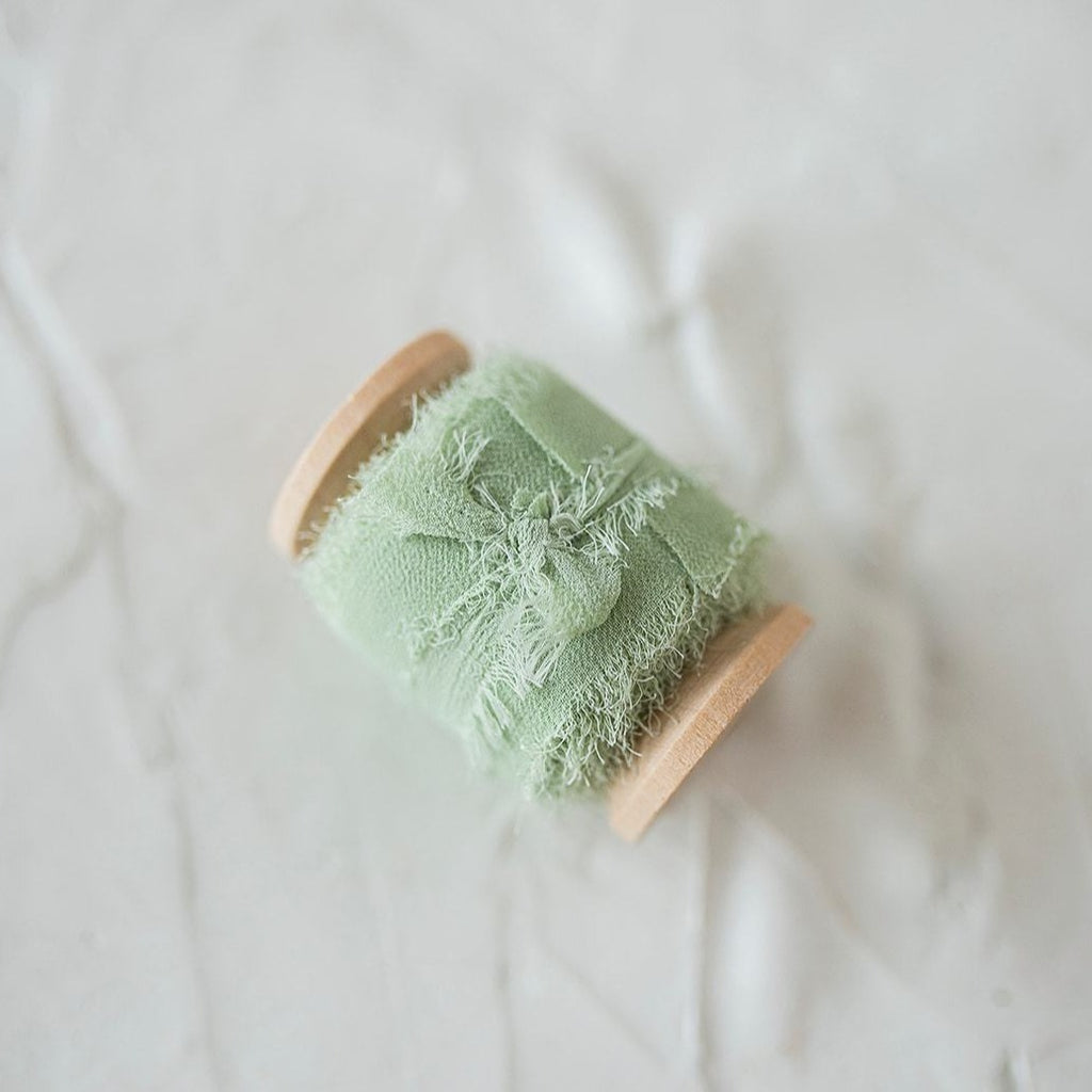 Mint Silk Chiffon Styling Ribbon