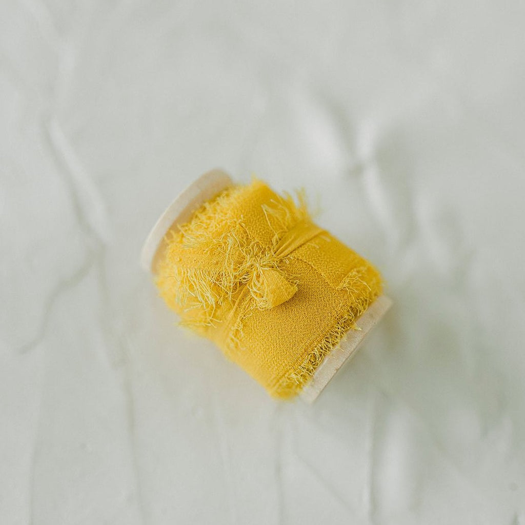 Yellow Silk Chiffon Styling Ribbon