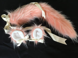 Luxury Peaches And Cream Kitten / Wolf Play Set, BDSM