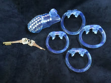 Load image into Gallery viewer, A Beautiful Clear Resin Male Chastity Cage Device