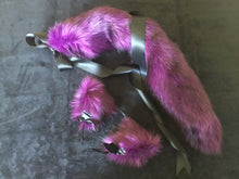 Load image into Gallery viewer, Stunning Damson and Black  Kitten- Wolf  Play Set