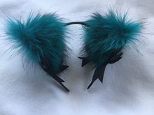 Load image into Gallery viewer, Sexy Teal & Black Kitten- Wolf  Ears, BDSM, Cosplay, anime.