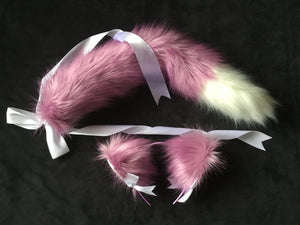 Sexy Lilac and White kitten- wolf Play Set