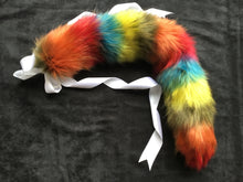 Load image into Gallery viewer, Stunning Rainbow - kitten / Wolf Tail, Cosplay, Neko, LGBTQ,DDLG