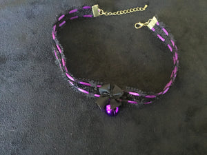 Gorgeous Black & Purple Collar