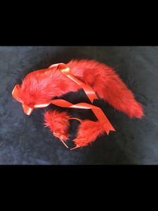 Sexy Flame Red  kitten- wolf Play Set, Anime, Cosplay, Ddlg, Kitty.