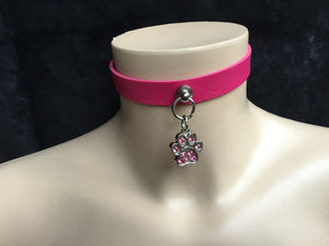 Sexy Pink Puppy Play Collar
