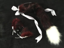 Load image into Gallery viewer, Gorgeous Burgundy Wine & White Kitten - Wolf Play Set