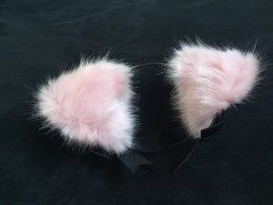 Sexy Black & Baby Pink Kitten /Wolf  Ears, BDSM.
