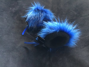 Beautiful Midnight Blue & Black Kitten- Wolf  Ears, BDSM, Costume, Anime, Cosplay