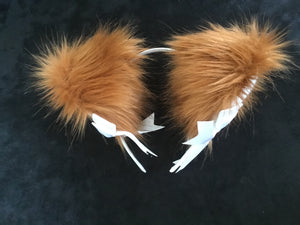 Exquisite Ginger- Brown and White kitten- wolf Play Set