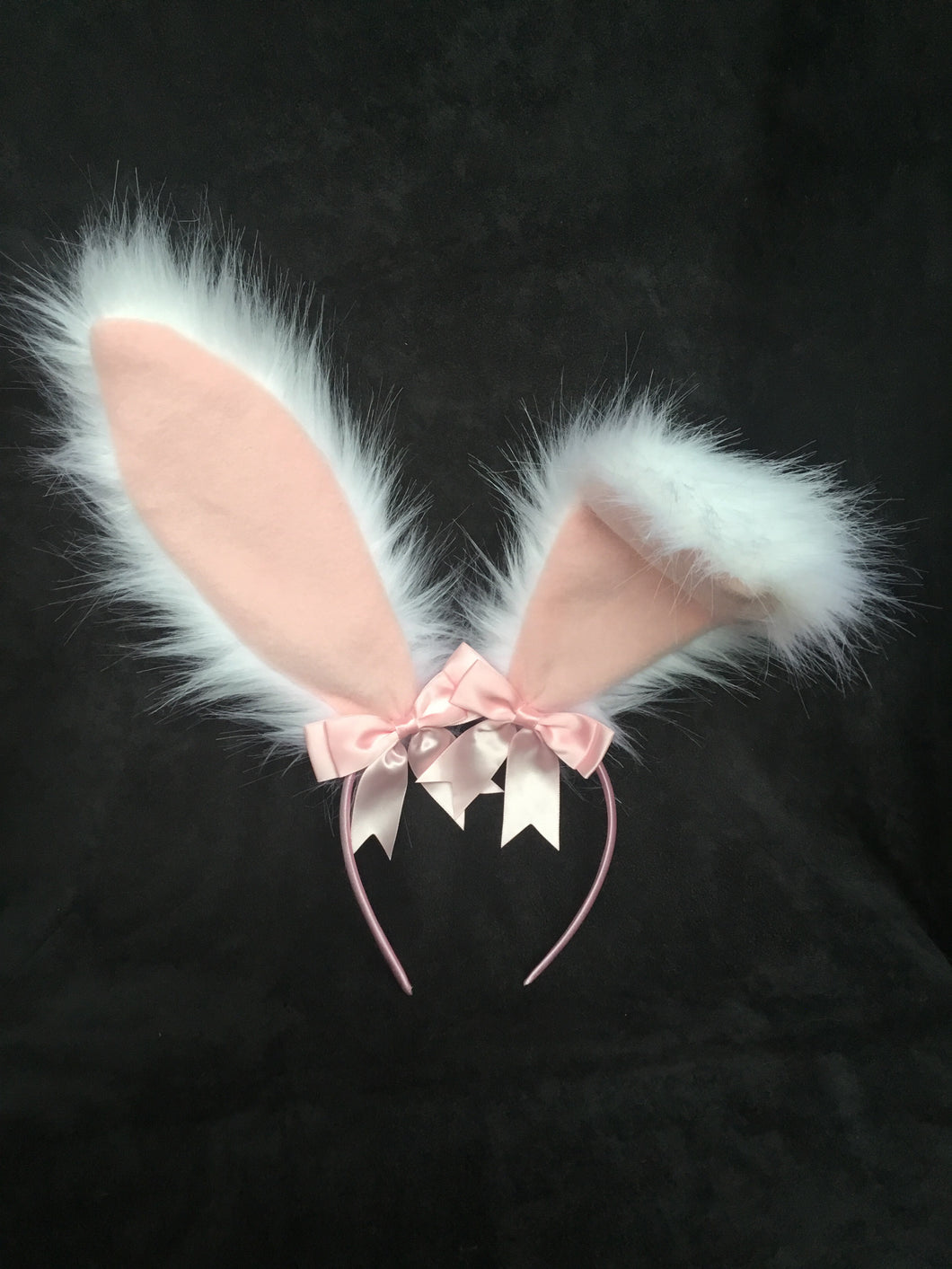 Sexy White & Baby Pink Bunny   Ears, BDSM, Bunnyplay,