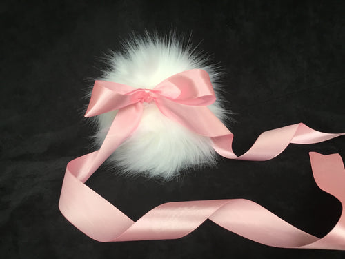 Fabulous White & Baby Pink Bunny Tail ,BDSM, Anime,Cosplay, Kawaii.