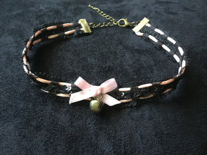 Gorgeous Black & Baby Pink Collar